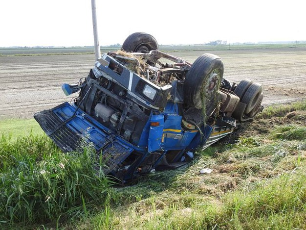 Al volante del mezzo pesante c'era un 54enne di Lavezzola (Scardovi)