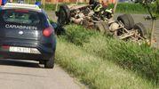 Il camion è finito in una scarpata ruote all'aria (Scardovi)