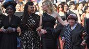 La cantante del Burundi Jury Khadja Nin, Ava DuVernay, Cate Blanchett  e Agnes Varda (Lapresse)