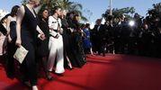 La protesta delle attrici contro la mancanza di registe donne premiate nella storia del Festival (Ansa)
