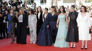 La protesta delle attrici: tra le altre Patty Jenkins, Salma Hayek, Sofia Boutella (Ansa)