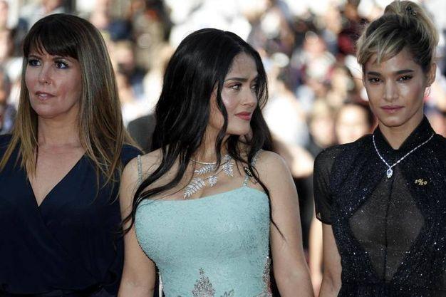 Patty Jenkins, Salma Hayek e Sofia Boutella (Ansa)