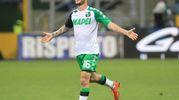 Inter-Sassuolo, esultanza di Politano per il gol dello 0-1 (foto Newpress)
