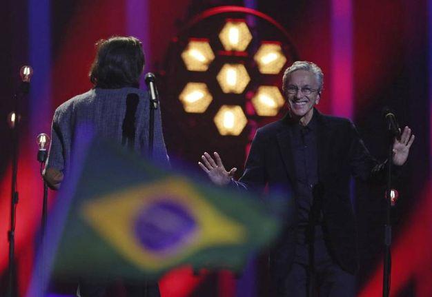 Salvador Sobral e Caetano Veloso (Ansa)