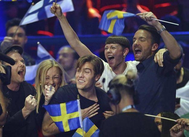 Tifo per lo svedese Benjamin Ingrosso (Ansa)