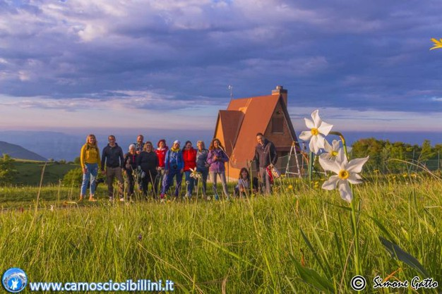 Simone Gatto e gli altri escursionisti