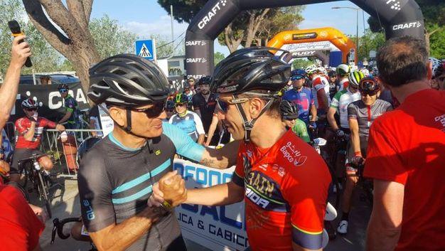 Vincenzo Nibali e Fabrizio Ravanelli