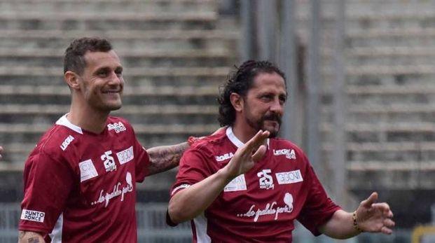 Alessandro Diamanti e Igor Protti allo stadio Picchi per ricordare Pier Mario Morosini