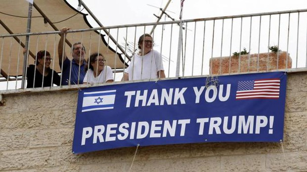 Gerusalemme, festeggiamenti per l'apertura dell'ambasciata Usa (Ansa)