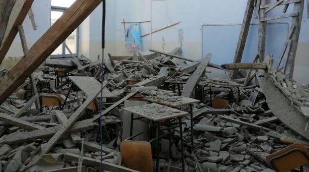 Tragedia sfiorata all'istituto tecnico Montani (foto Zeppilli)