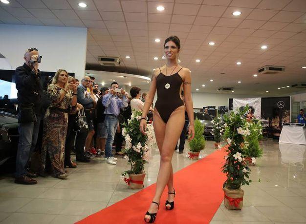 Hanno sfilato sette bellissime modelle dell'azienda Cucò beachwear and accessories, tra cui l'indossatrice ufficiale Cucò e madrina, la 22 enne romana Eleonora D'Alessandro (Fotoprint)