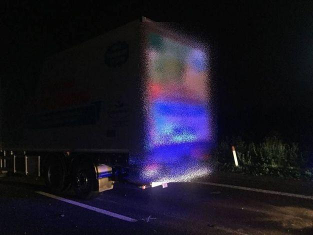 Il furgone coinvolto nell'incidente