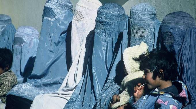 Donne musulmane con il burqa
