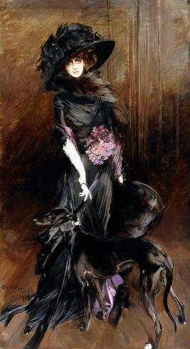 """Giovanni Boldini, """"Marchesa Luisa Casati con un levriero"""" (1908)"""