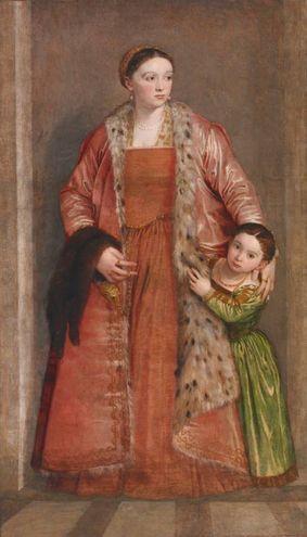 """""""Ritratto della Contessa Livia da Porto Thiene con la figlia"""", Paolo veronese (1552)"""