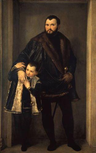 """""""Ritratto di Iseppo da Porto col figlio Adriano"""" di Paolo Veronese (1552)"""