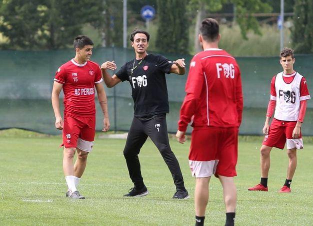 Perugia, il nuovo tecnico Alessandro Nesta dirige il suo primo allenamento (Crocchioni