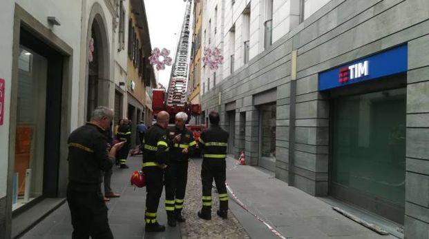Vigili del fuoco in via Sant'Orsola