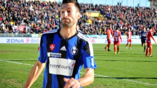 Il centrocampista del Pisa Davide Di Quinzio