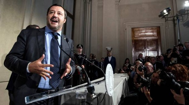 Matteo Salvini al termine dell'incontro con Sergio Mattarella (Lapresse)