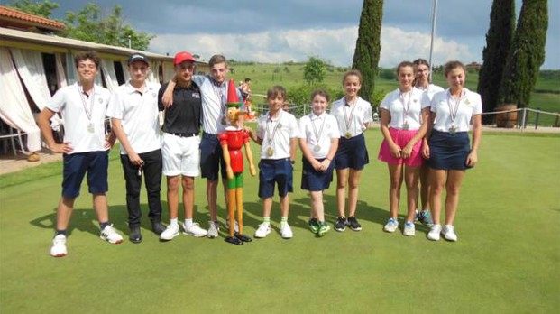I premiati del Pinocchio sul Green disputato al Golf Club Bellosguardo di Vinci