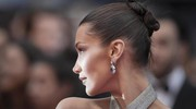 Bella Hadid al Festival di Cannes (Ansa)