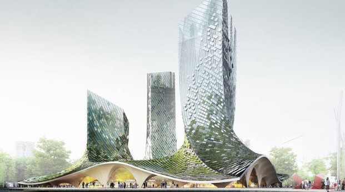 Il progetto delle French Dream Towers in Cina - foto XTU Architects