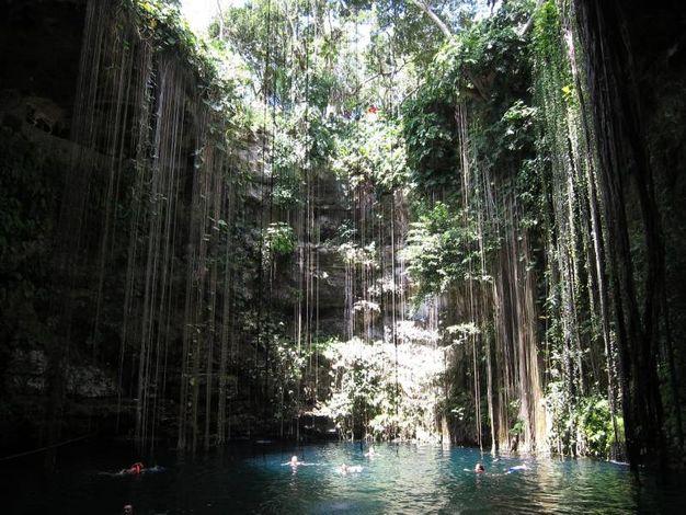 Cancun - jungla, piscina naturale