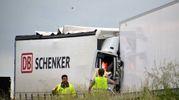 La scena dell'incidente (Foto Umicini)