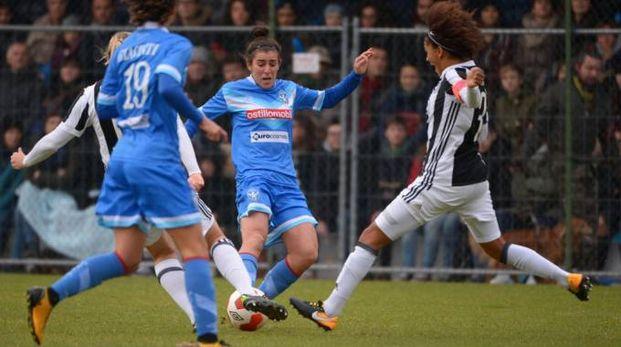 Un'azione di una delle sfide tra Brescia e Juventus in questa stagione