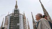 Giorgio Squinzi sotto il Duomo