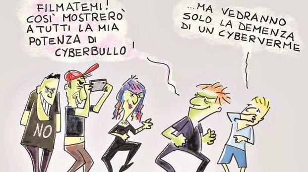 La vignetta disegnata da Bruno Bozzetto verrà portata in giro nelle scuole