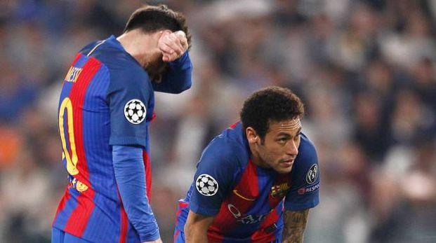Neymar e Messi, compagni di squadra ai tempi del Barcellona