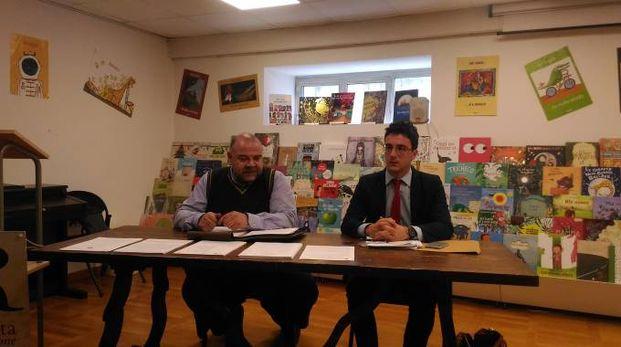Sante Marinelli, a sinistra, insieme all'avvocato Sforza