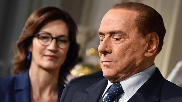 Mariastella Gelmini, capogruppo FI alla Camera, con Silvio Berlusconi (Ansa)