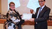 Il riconoscimento che si è meritato Filippo Del Bene (Fotoprint)