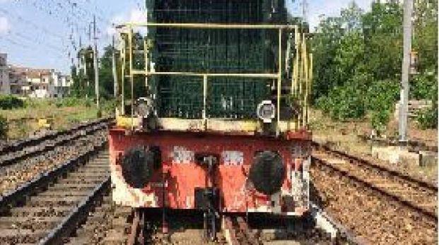 il locomotore uscito dai binari