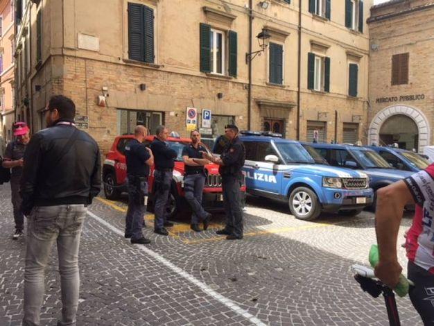 Il Giro d'Italia arriva a Osimo al termine dell'11esima tappa (Foto Silvia Santini)