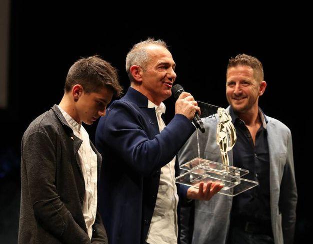 Il fanese dell'anno è Andrea Urbani (al centro)