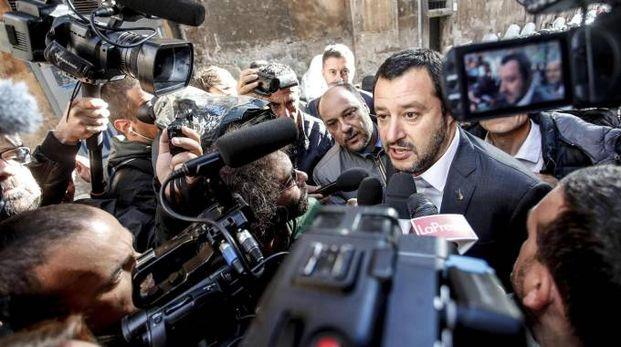 Il segretario federale della Lega Matteo Salvini (Ansa)