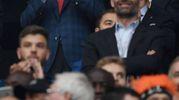 Re Felipe di Spagna esulta per la vittoria della squadra madrilena (Afp)
