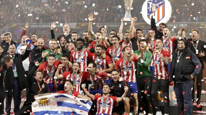 L'Atletico Madrid vince l'Europa League 2018 (Ansa)