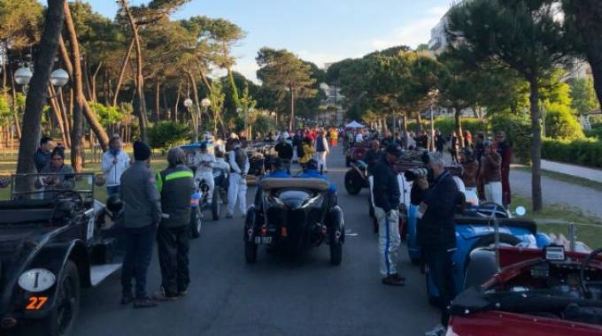 Mille Miglia a Cervia (Foto Twitter)