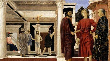 Flagellazione Piero della Francesca, Urbino, Galleria Nazionale delle Marche