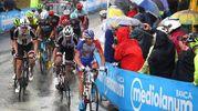 La conclusione a Imola della 12.a tappa del Giro d'Italia (foto Isolapress)