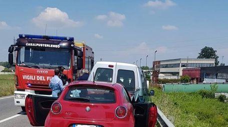 incidente lungo la via Emilia