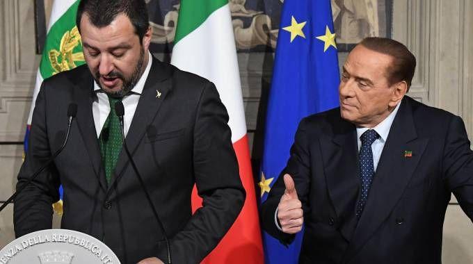 Salvini e Berlusconi insieme