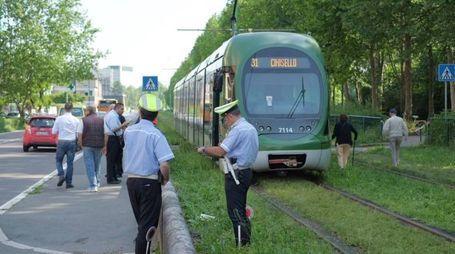 La polizia locale sul luogo dell'incidente