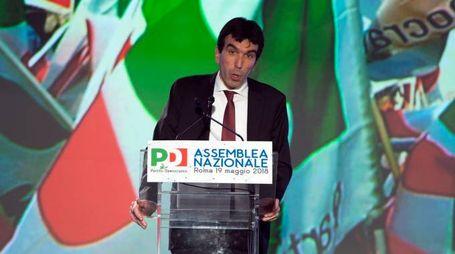 Maurizio Martina all'assemblea Pd (LaPresse)