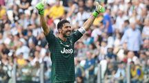 Gigi Buffon, all'ultima apparizione in bianconero (Lapresse)